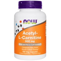 Now Foods, Acetyl-L-Carnitine, 500 mg, 100 Veggie Caps