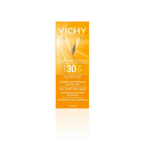 Матирующая эмульсия Vichy CAPITAL IDEAL SOLEIL для лица Dry Touch SPF30